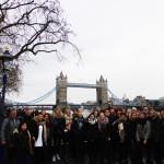 Zwischen dem Tower und der Tower Bridge